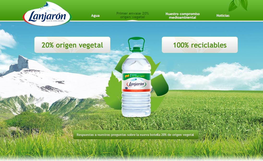 Lanjarón lanza un nuevo envase con 20% de material vegetal