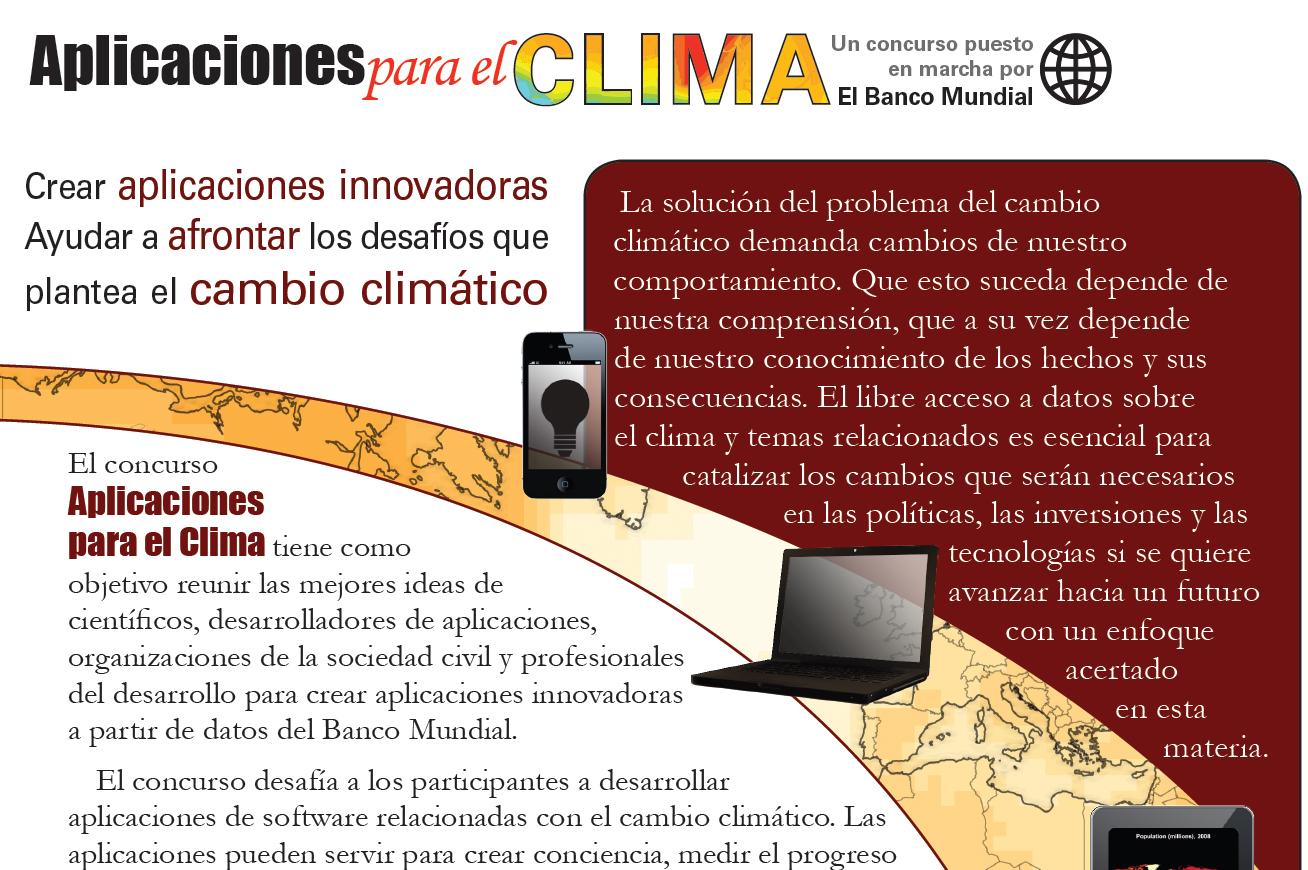Concurso de Apps para monitorizar el cambio climático