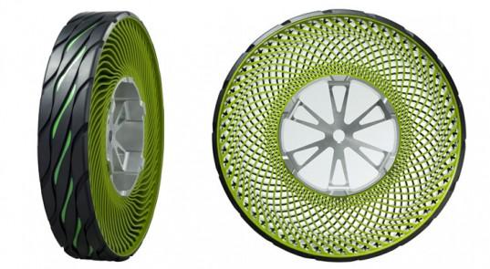 Bridgestone investiga en neumáticos 100% reciclables sin aire