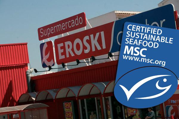 Eroski apuesta por la sostenibilidad de su pescado fresco con el sello MSC