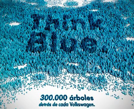 """Volkswagen planta 300.000 árboles gracias a su programa """"Think Blue."""""""
