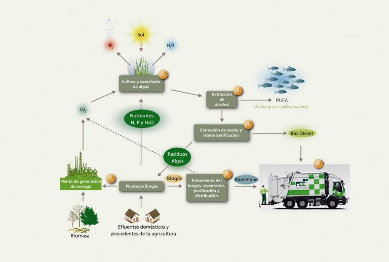 FCC lidera un proyecto europeo para obtener biocombustibles con aguas residuales