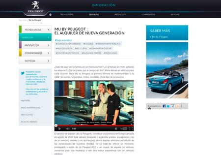 Peugeot expone su compromiso medio ambiental a través de Internet