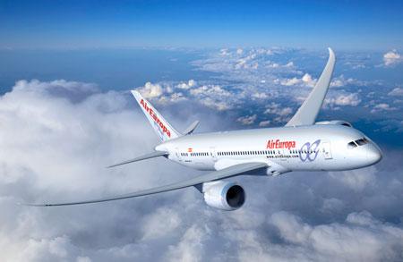 Boeing presenta a Air Europa su avión más eficiente