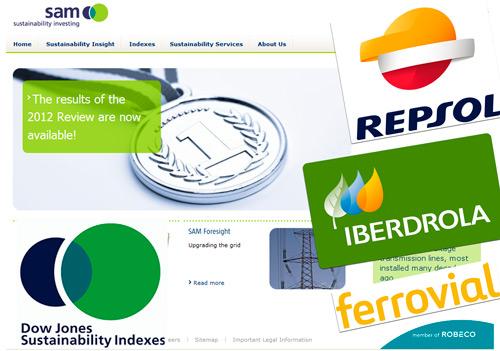 """Iberdrola y Repsol líderes en su """"supersector"""" en el Dow Jones de sostenibilidad"""