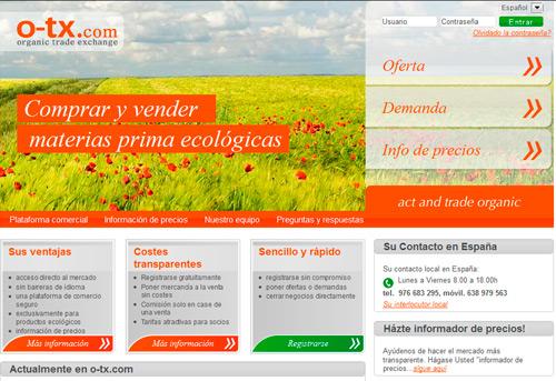 Comprar y vender materias primas ecológicas on—line