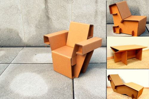 ¿Sustituirías tus muebles de casa por unos de cartón reciclado?