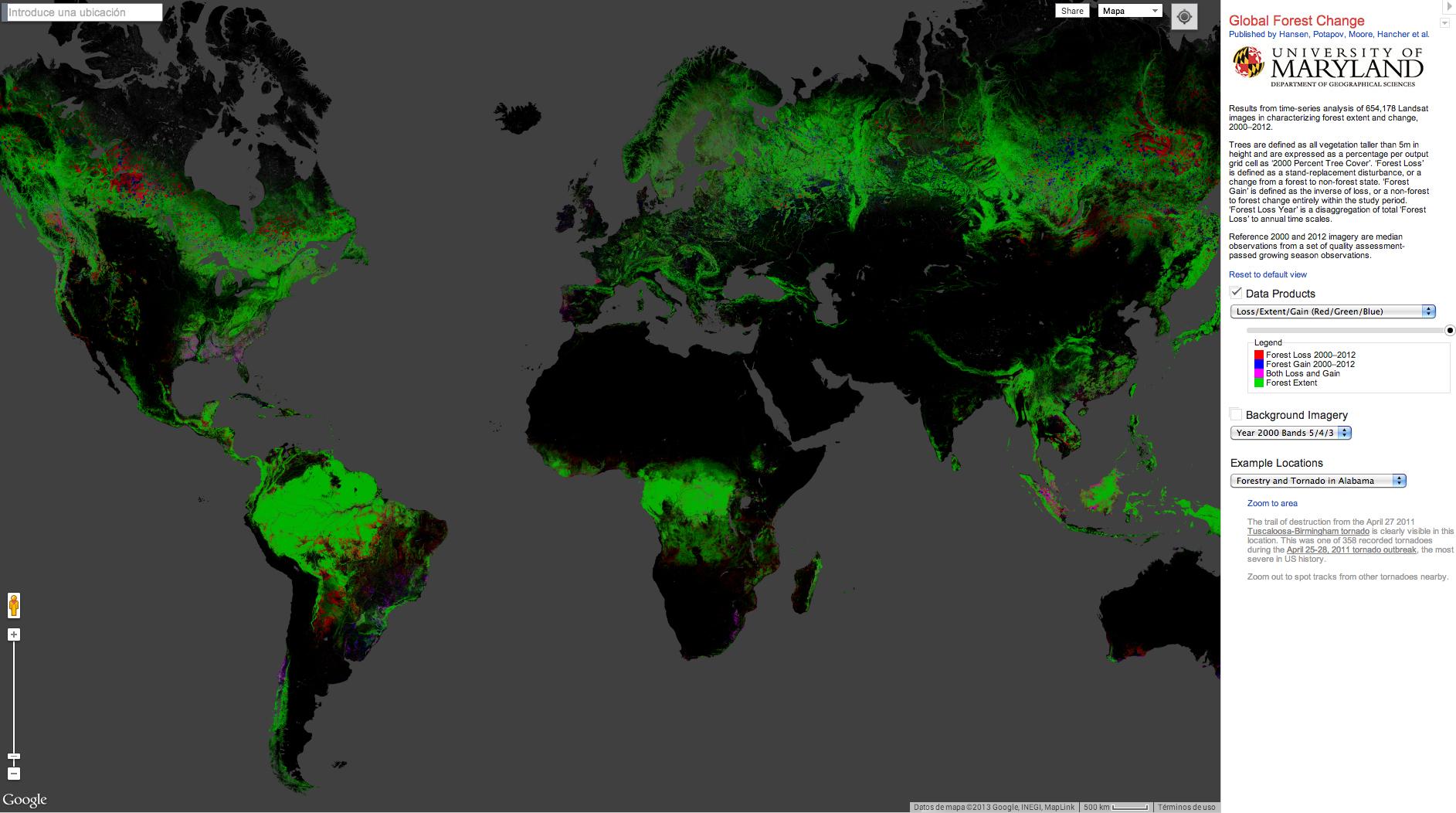 La deforestación en alta resolución