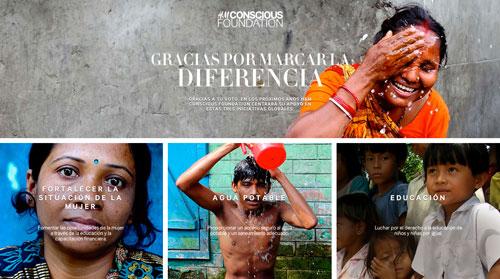 Agua limpia, educación y refuerzo del papel de la mujer objetivos para la Fundación Conscious