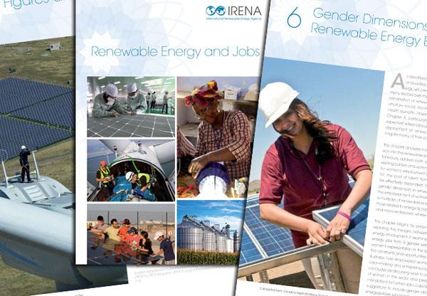 Las energías renovables proporcionan empleo a 5,7 millones de personas