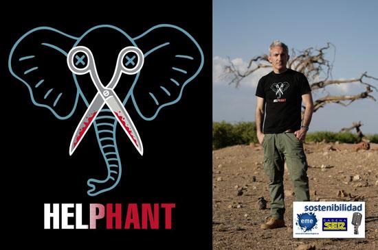 Camisetas para ayudar a los elefantes africanos
