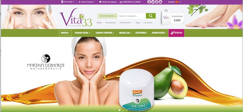 Vita 33, la nueva web de cosmética y alimentación ecológica