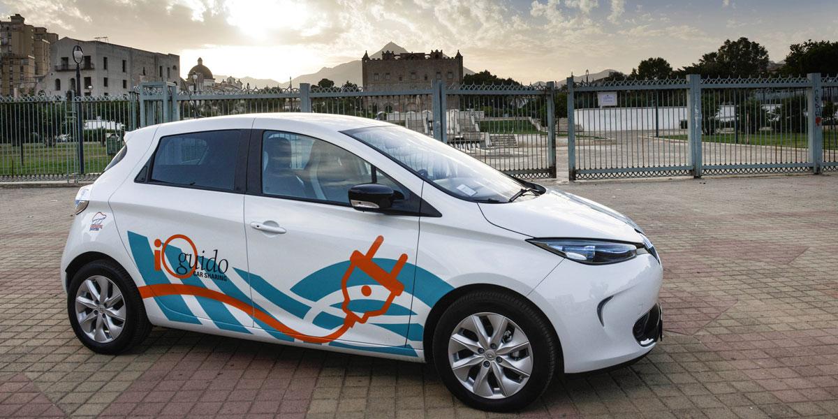 Palermo estrena servicio público de coche eléctrico compartido