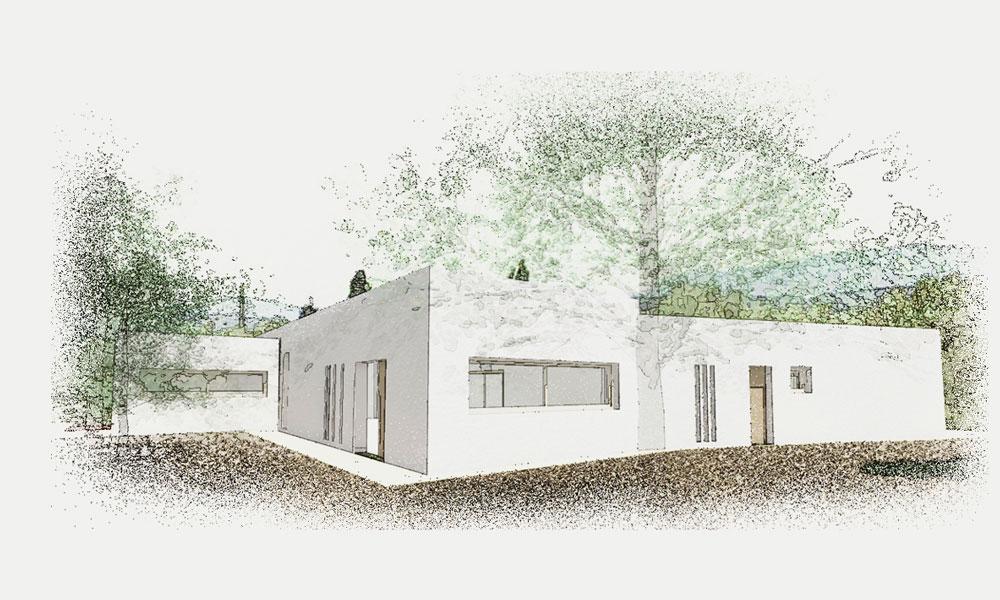 Una casa 100×100 solar desconectada de la red eléctrica