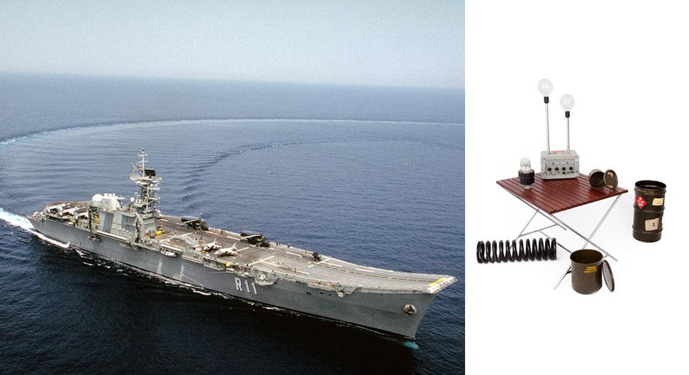 Ayuda a reciclar un portaaviones