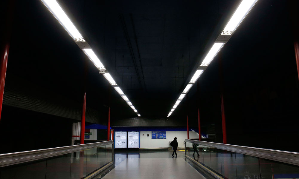 iluminacion LED metro madrid