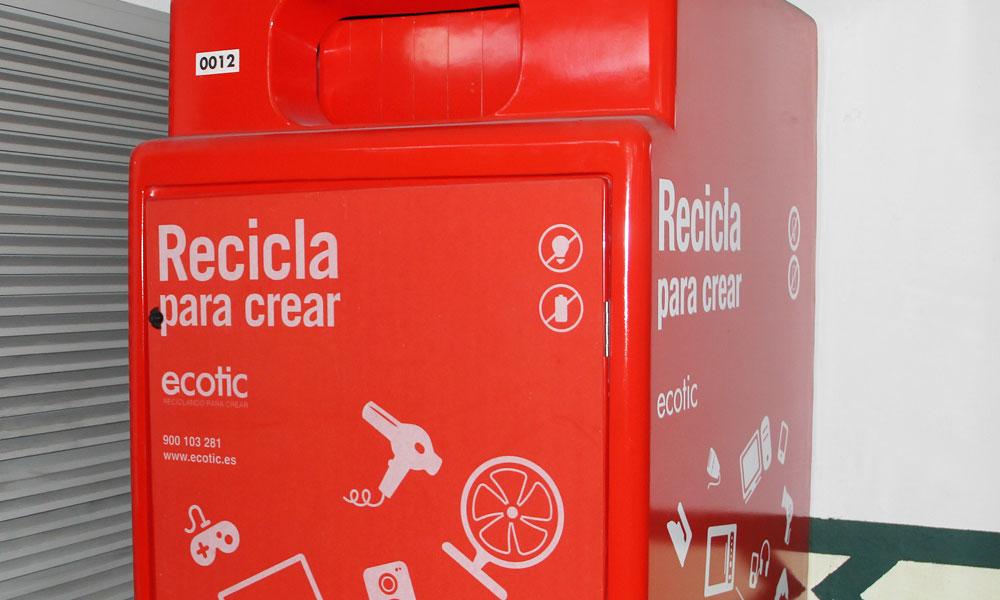 El Corte Inglés recicla los pequeños electrodomésticos