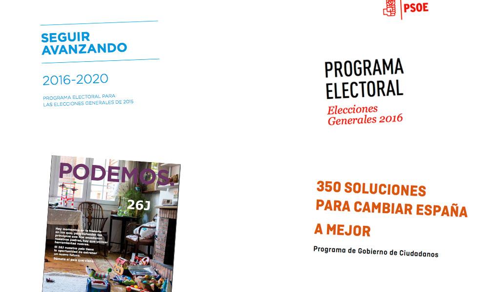 programas electorales partidos políticos 2016 medio ambiente ecología