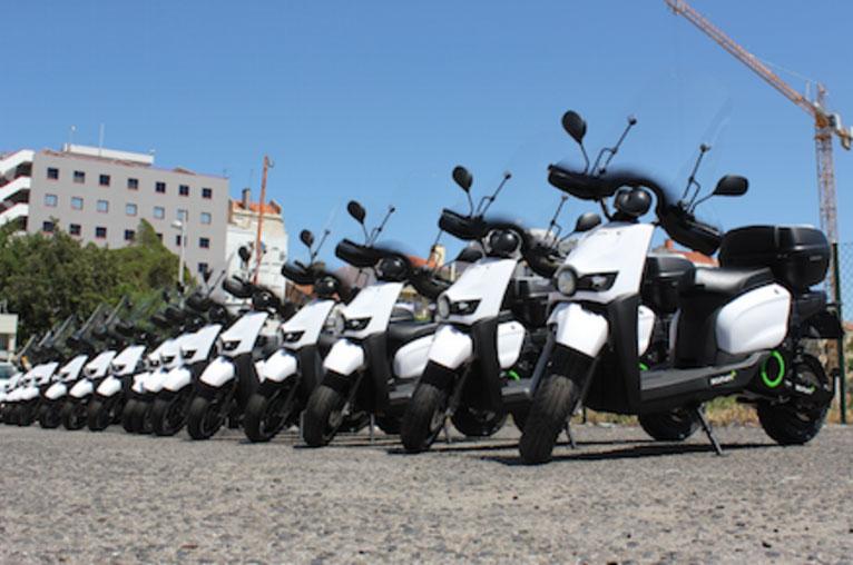 Scutum moto eléctrica agentes movilidad Lisboa