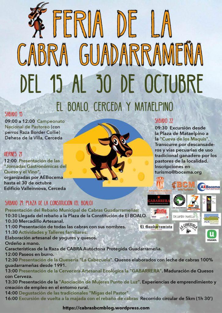 FERIA CABRA GUADARRAMEÑA EL BOALO Madrid, rebaño municipal cabras, lobo ibérico