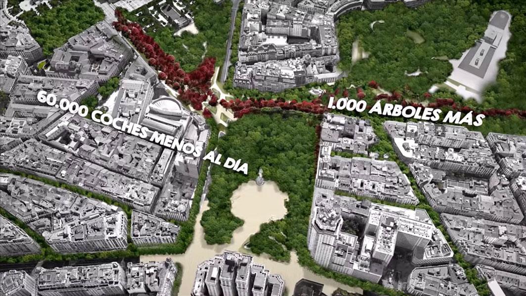 Más árboles y menos coches para el centro de Madrid