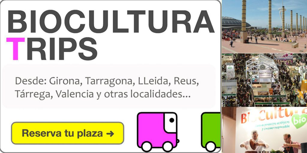 Biocultura Barcelona 2017 Local Terminal bus sharing bus compartido
