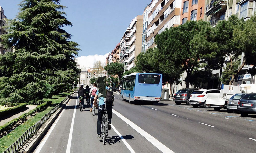 Carriles bici bicicletas madrid Anillo verde