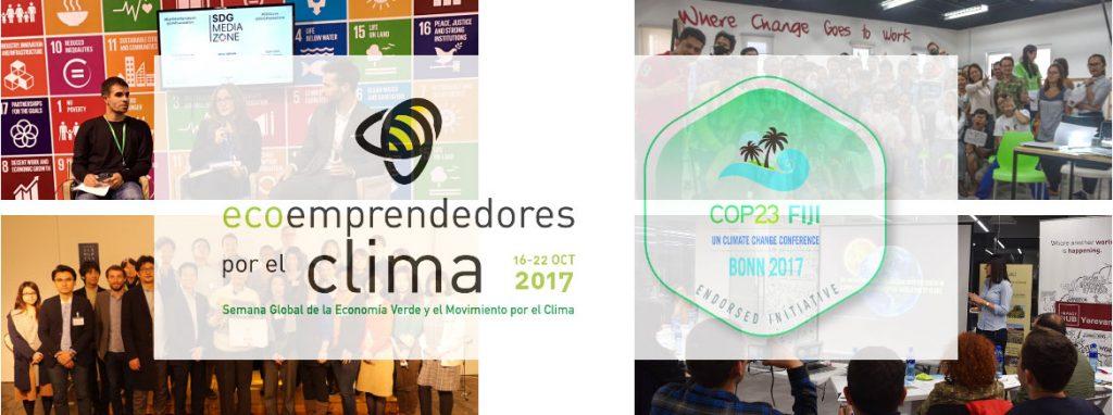 Ecoemprendedores por el clima Semana Global de la Economía Verde y el Movimiento por el Clima emprendedores ecología