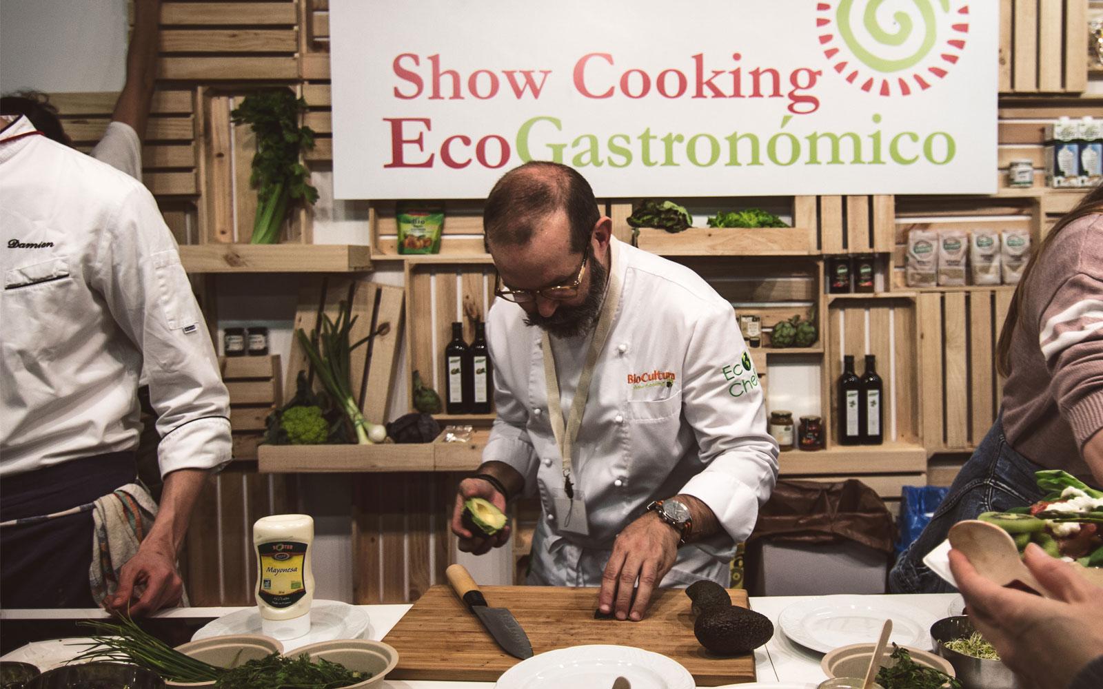 Ecogastronomía en vivo en Biocultura Madrid