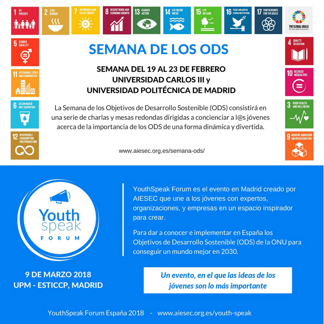 Semana Objetivos Desarrollo Sostenible ODS YouthSpeak Forum