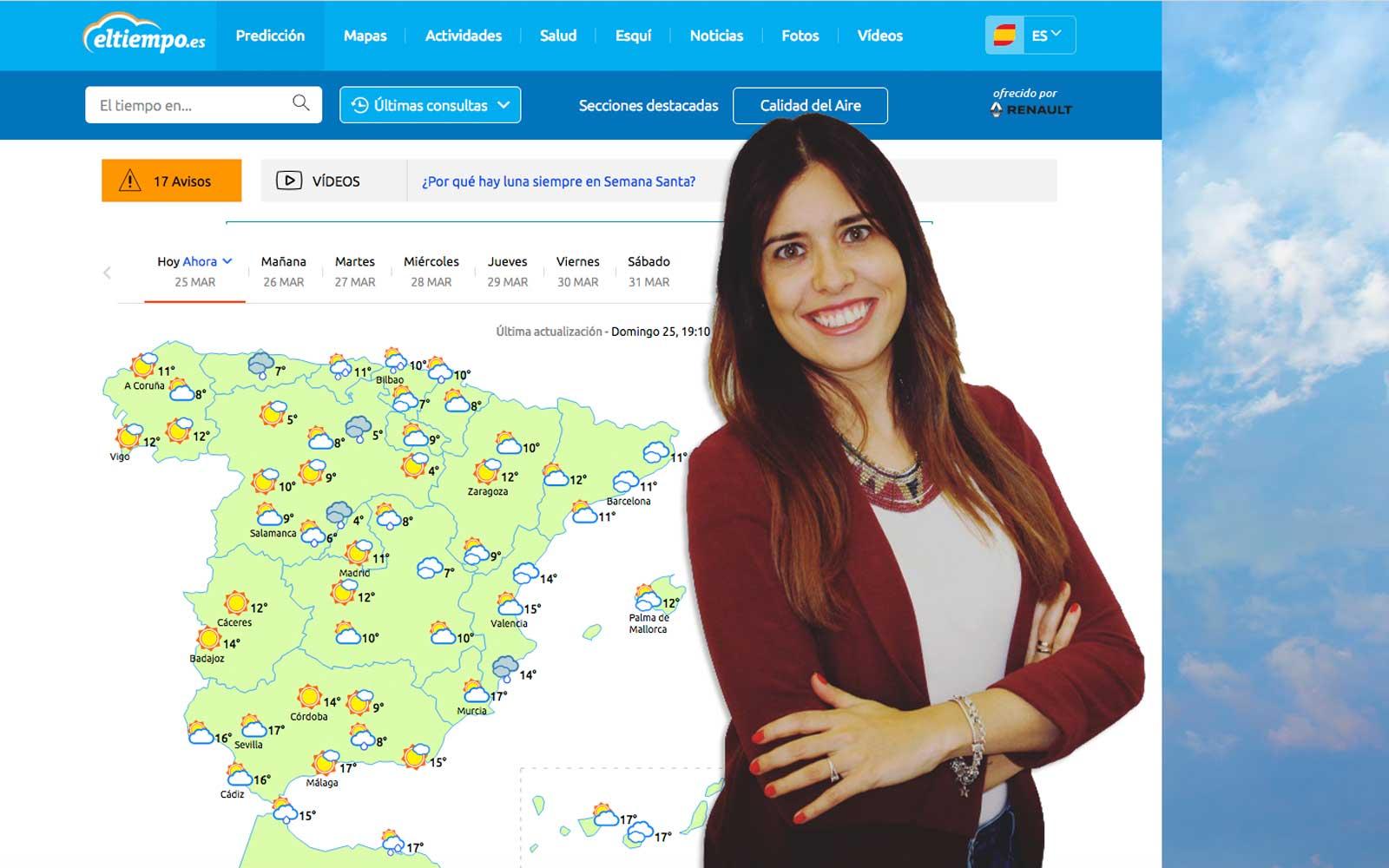 Mar Gómez eltiempo.es nivel embalses España previsiones tiempo primavera 2018