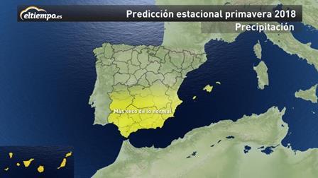 Predicciones meteorológicas Primavera 2018 España