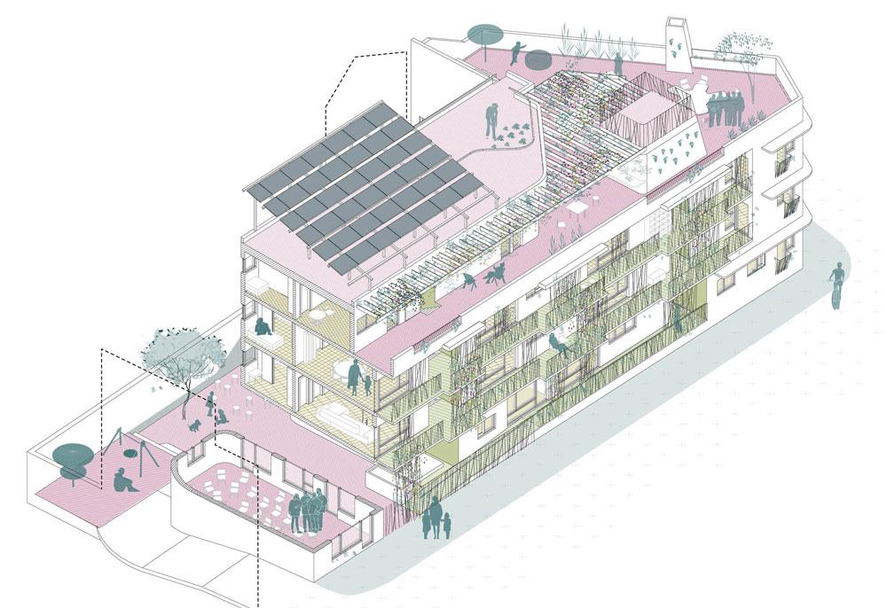 Cohousing Verde Entrepatios Madrid Usera viviendas derecho uso ecología