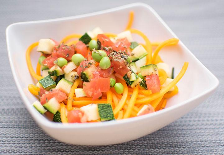 Fooditos espaguetis baby led weaning comida infantil ecologica