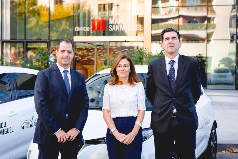 Mahou san Miguel Flota comercial vehículos eléctricos Madrid