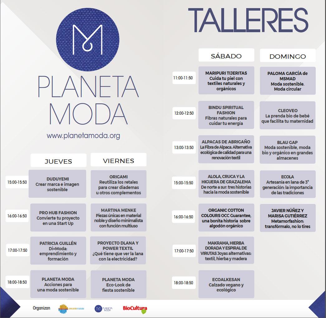 Moda sostenible BioCultura Madrid 2018 Programa