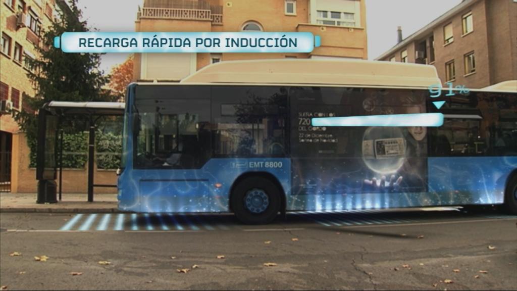 Carga eléctrica autobús sin cables, por inducción CIRCE