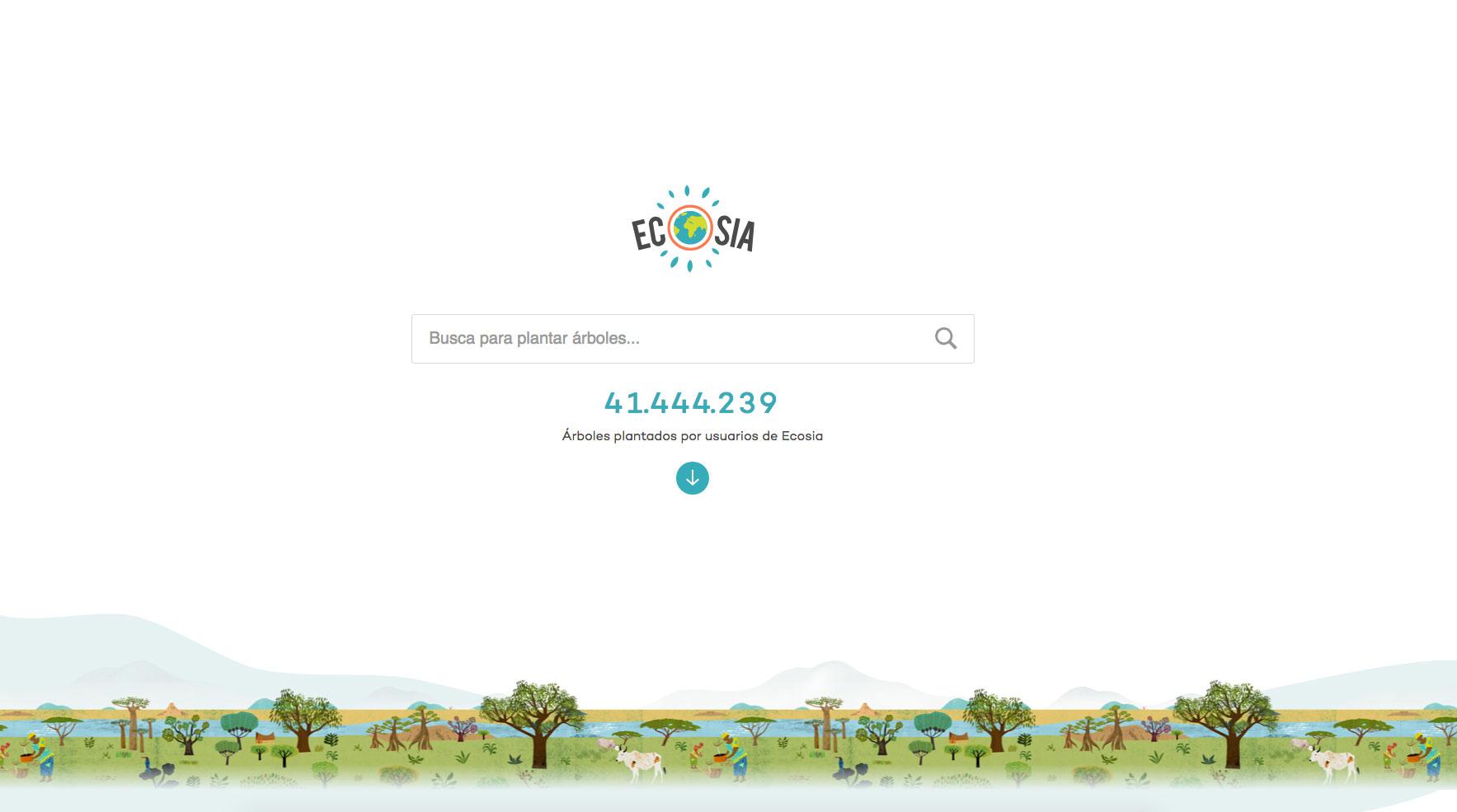Ecosia buscador planta arboles entrevista cadena ser el mundo ecologico