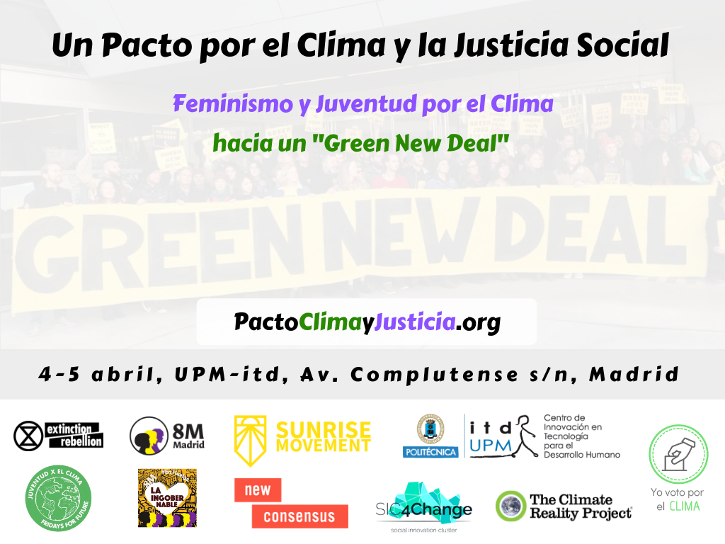 Pacto por el clima Madrid Green New Deal SIC4Change