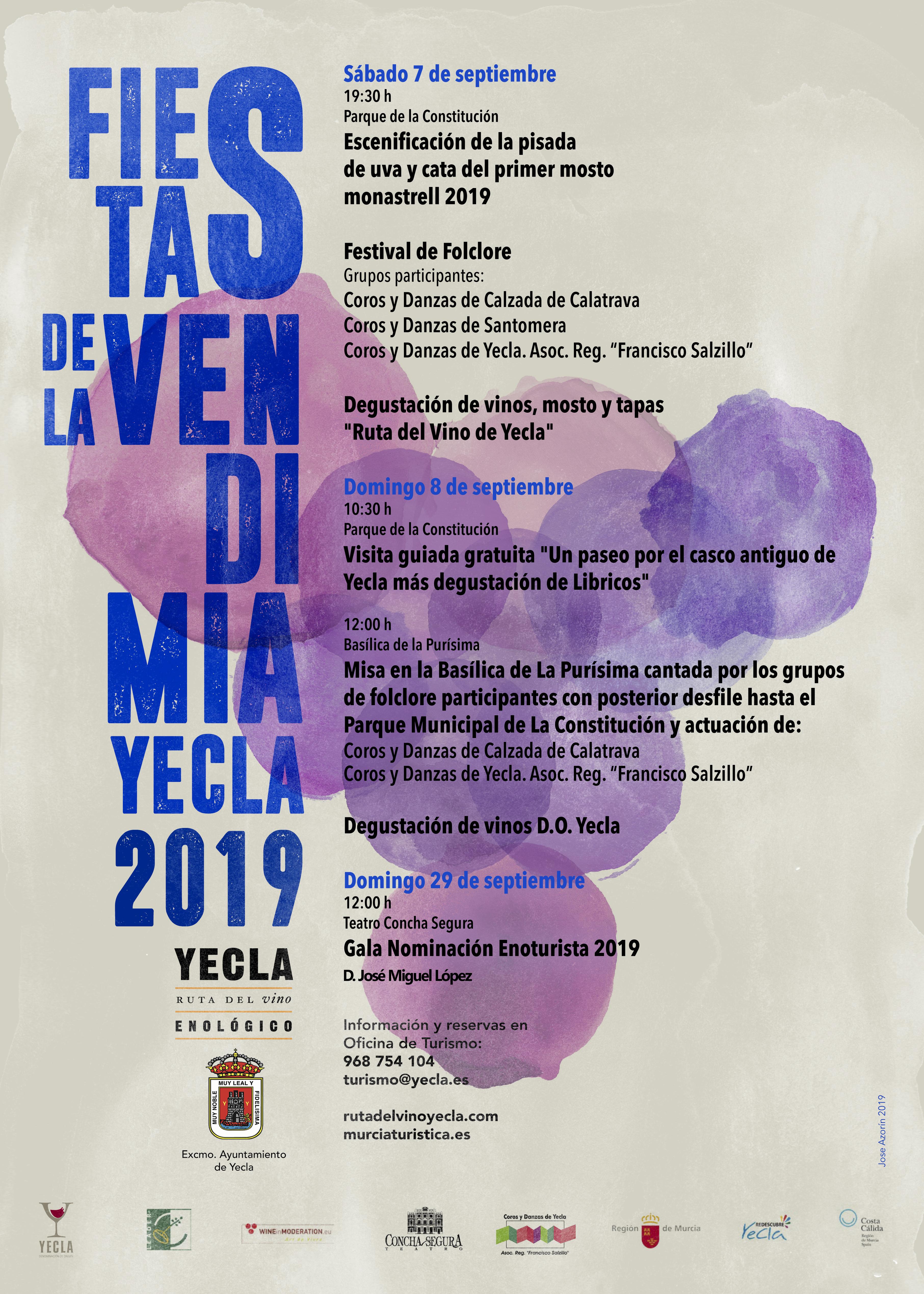 Ruta Vino Yecla Fiestas de la vendimia