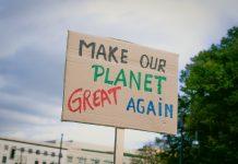 Pancarta Cambio climático
