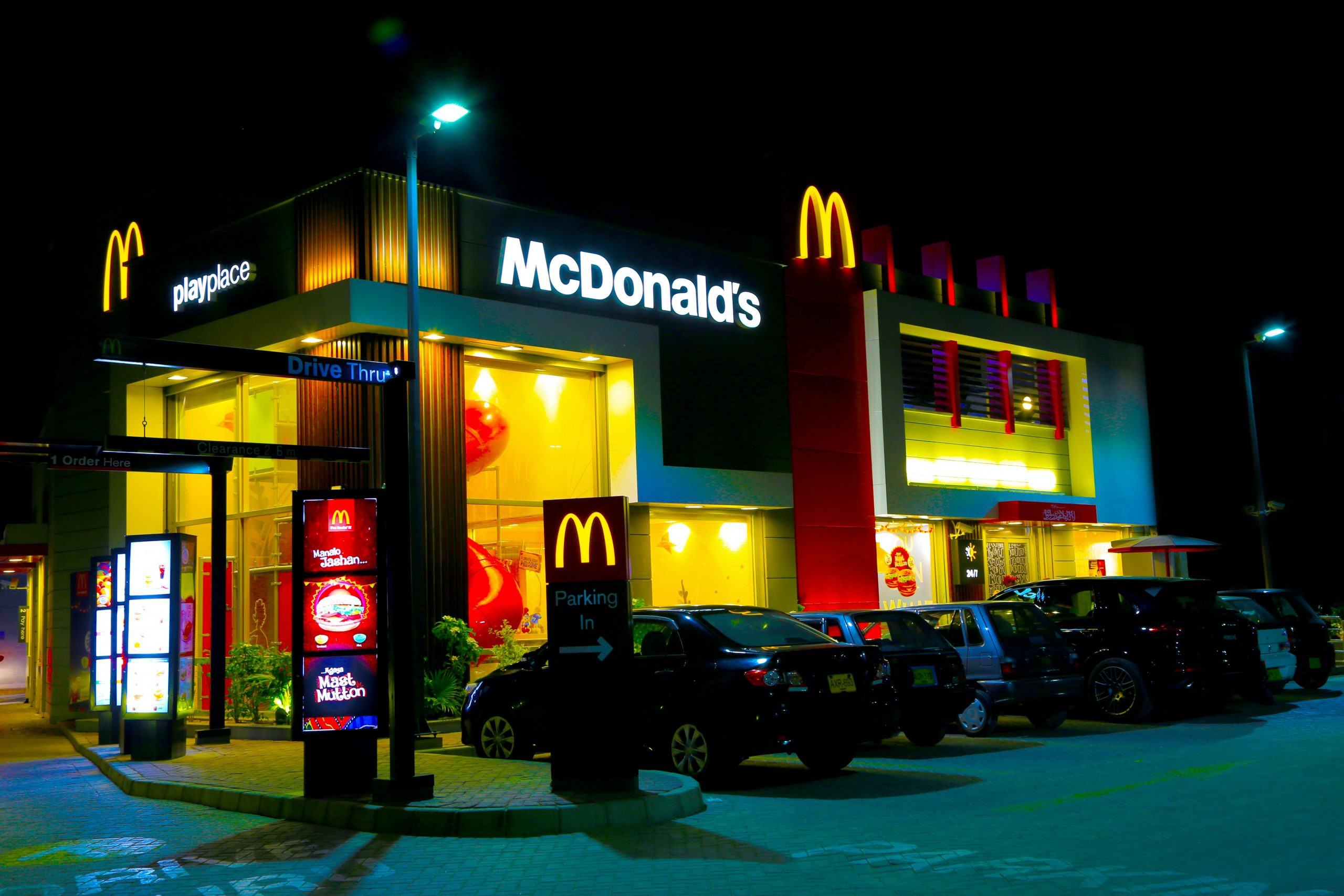 retirar plástico McDonald's