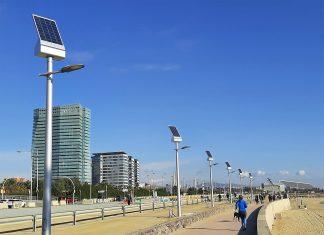 iluminación solar sostenible