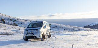 vehículo eléctrico invierno
