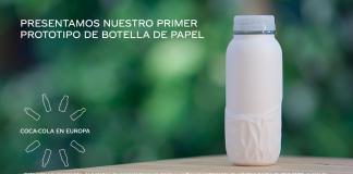 primer prototipo botella papel