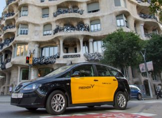 transporte sostenible taxi