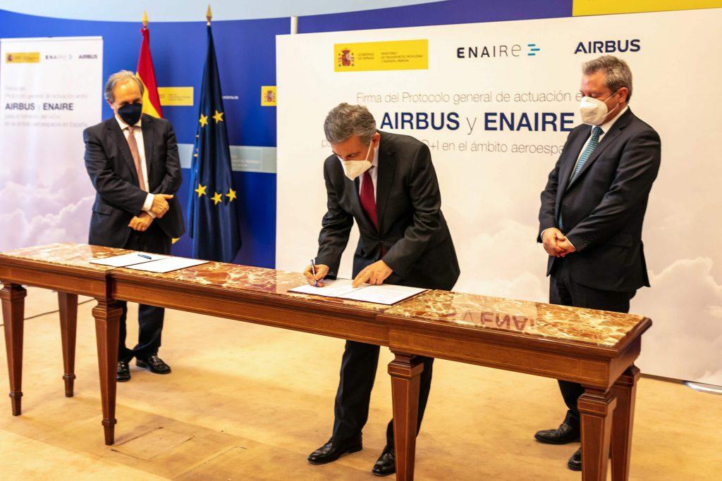 Firma acuerdo Enaire y Airbus