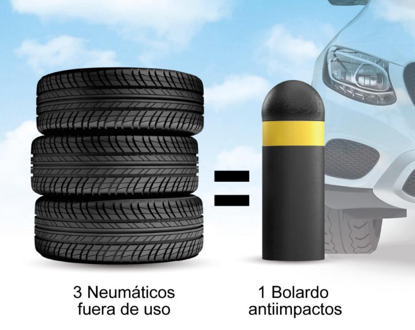 Bolardos de neumáticos