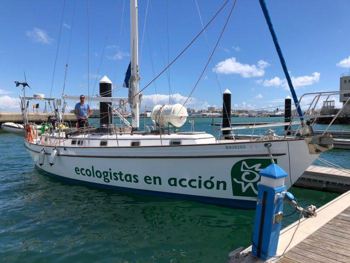 Barco diosa maat de ecologistas en acción campaña 2021