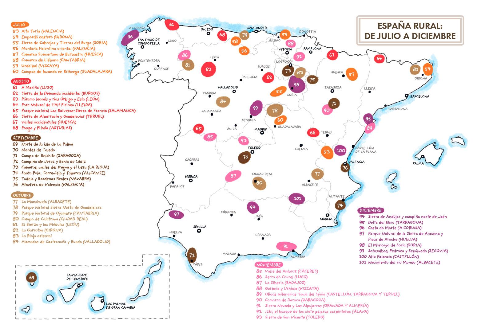 Mapa Guía de la España Rural Javier Rico